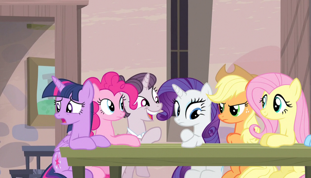 File:Sugar Belle about to take Mane Six's order S5E1.png