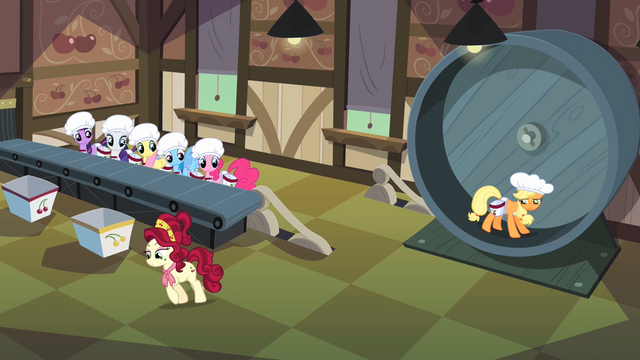 File:Main ponies ready to work in the cherry factory S02E14.png
