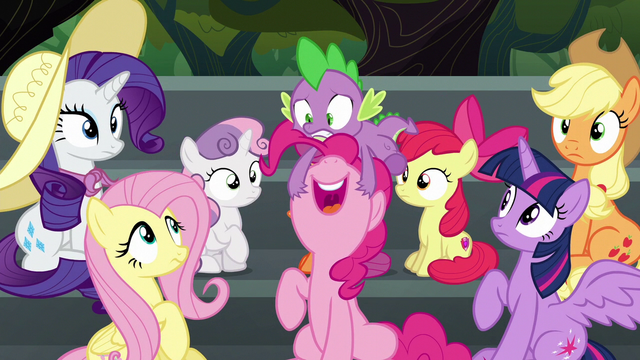 """File:Pinkie Pie """"I hope there's cotton candy!"""" S6E7.png"""