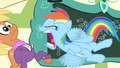 Rainbow Dash interrupts Ms. Harshwhinny S4E05.png