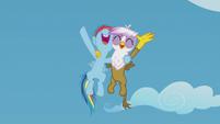 Young Rainbow and Gilda chanting together S5E8