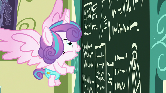 File:Flurry Heart looks at the chalkboard excitedly S7E3.png