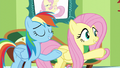 "Fluttershy and Rainbow ""you can pass the test"" S6E11.png"
