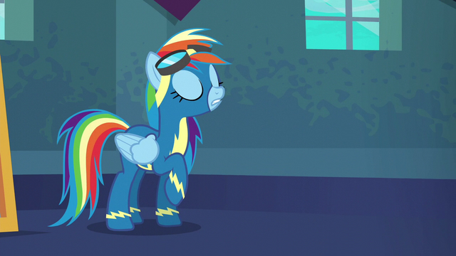 "File:Rainbow Dash ""no pressure"" S6E7.png"