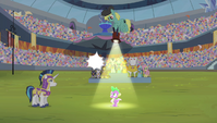 Spike with spotlight pointing onto him S4E24