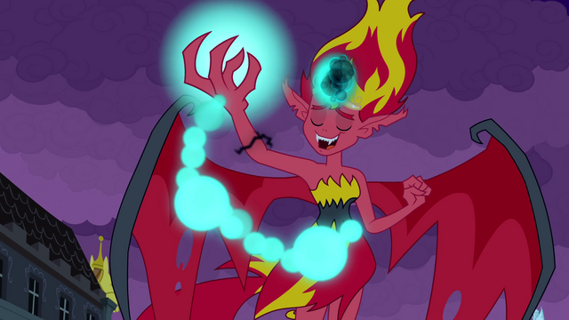 """File:Sunset Shimmer """"you will be loyal"""" EG.png"""