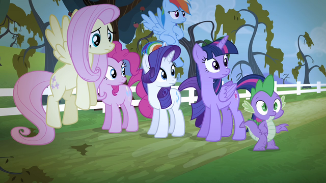 File:Applejack's friends sees Applejack walking away S4E07.png