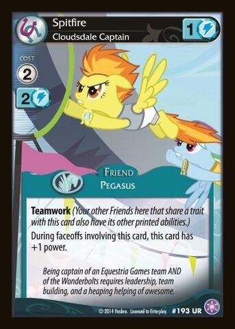 File:Spitfire, Cloudsdale Captain card MLP CCG.jpg