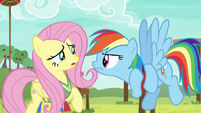 Fluttershy trembling and stuttering S6E18