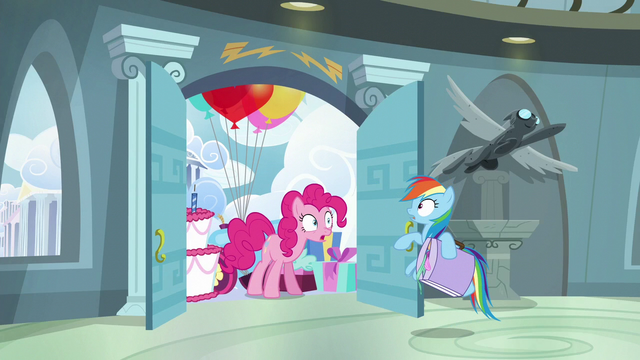 File:Pinkie stops Rainbow from leaving S6E7.png