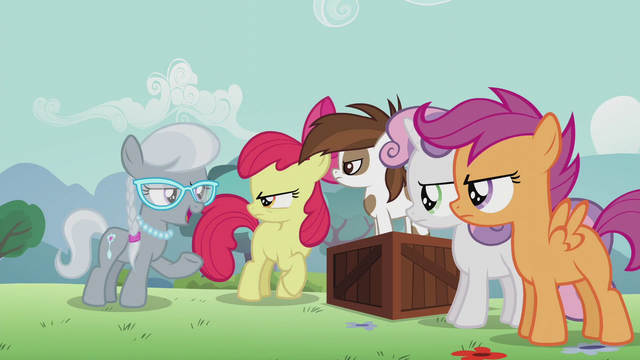 """File:Silver """"when Diamond Tiara is voted student pony president"""" S5E18.png"""