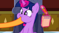 Applejack putting hoof inside Twilight's mouth S2E25.png