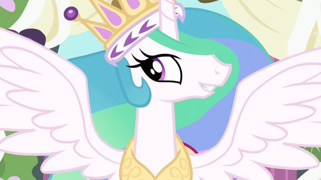 File:Princess Celestia reunite with my sister S3E13.png