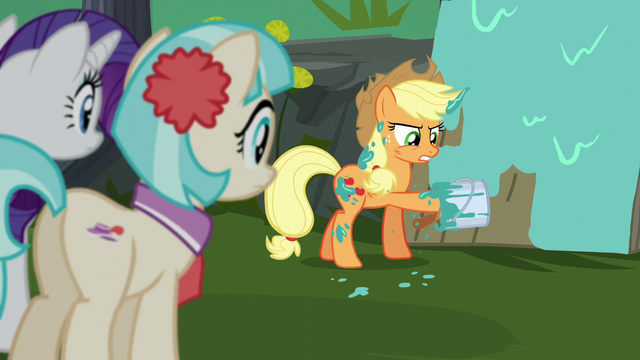 File:Applejack's hoof stuck in paint bucket S5E16.png