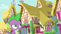 Spike getting more annoyed at Twilight S7E3