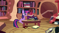 Twilight writing in the journal S4E21