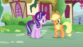 Applejack winking at Starlight Glimmer S6E21.png