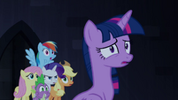 Main ponies and Spike surprised S4E03