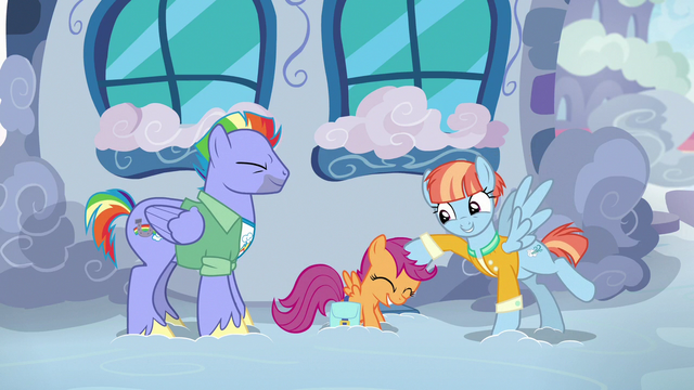 File:Windy Whistles ruffling Scootaloo's mane S7E7.png