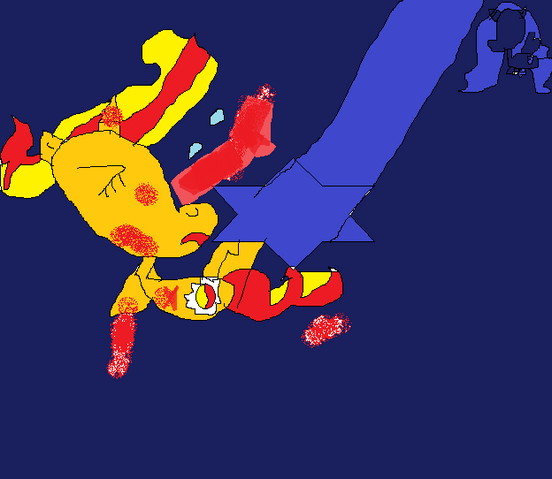 File:FANMADE Sunset Shimmer being hit by beam.png