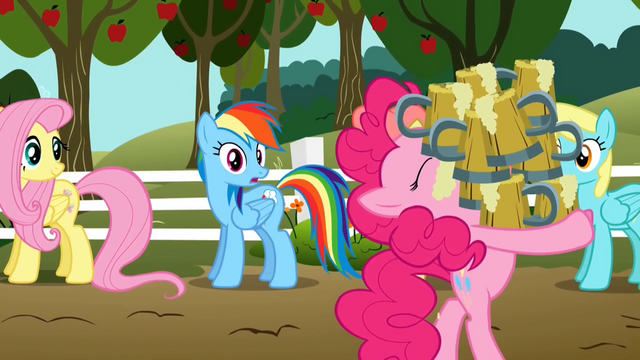 File:Pinkie Pie hoarding cider S2E15.png
