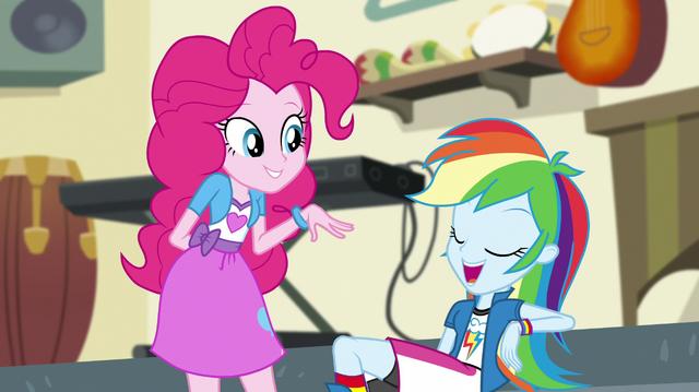 "File:Rainbow Dash ""thanks, Pinkie!"" EGS1.png"