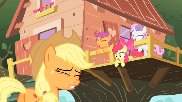 "File:Scootaloo ""Did you see us practicing?"" S01E18.png"
