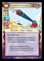 Cannonball Surprise card MLP CCG