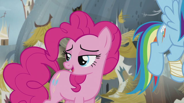 File:Pinkie says goodbye to King Grover's statue S5E8.png