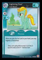 Lightning Dust, Last Resort card MLP CCG
