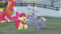 Limestone Pie threatening Apple Bloom S5E20