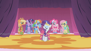 Main 6 ponies showing off in the better dresses S1E14.png