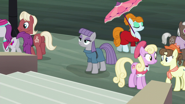 File:Maud Pie at Manehattan giving a blank stare S6E3.png