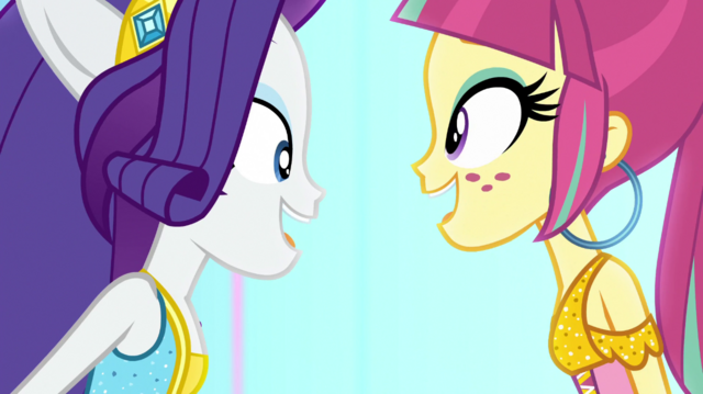 """File:Rarity and Sour sing """"and it's electric"""" EGS1.png"""