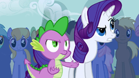 Spike and Rarity disapproving S1E6