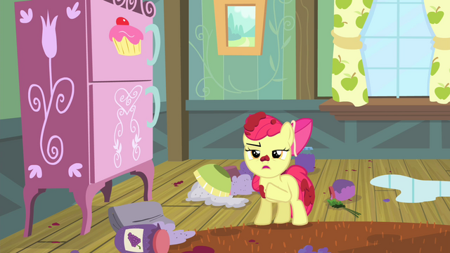 "File:Apple Bloom ""I'm perfectly capable of stayin' home alone"" S4E17.png"