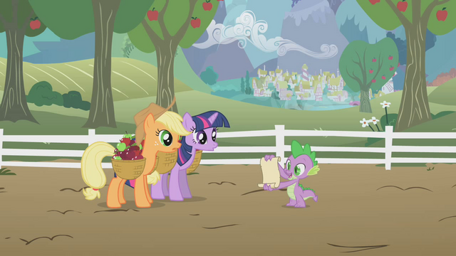 File:Applejack and Twilight listening S1E03.png