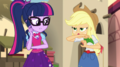 Applejack pretends to be a cloaked figure EGS2.png