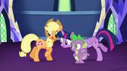 Twilight looks at Applejack's cutie mark S5E16.png