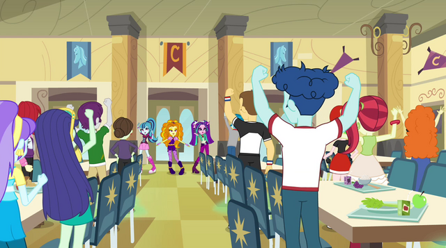 File:Canterlot High students whipped into a frenzy EG2.png