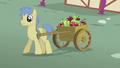 Goldengrape pulling cart of apples S5E18.png