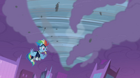 Rainbow Dash creates a tornado S4E06