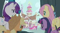 Rarity & Fluttershy checking on Pinkie Pie S3E7