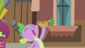 Spike about to eat the hot dog S4E08.png