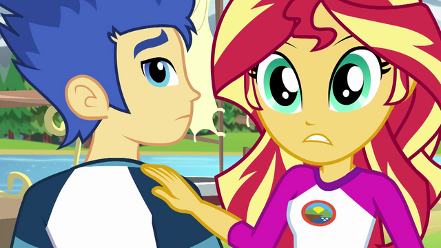 File:Sunset Shimmer ignoring Flash Sentry EG4.png
