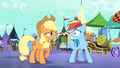 Applejack and Rainbow Dash worried S3E01.png