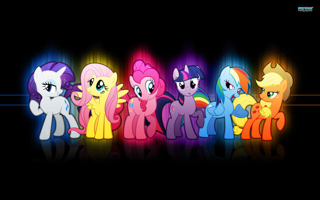 File:FANMADE main ponies in a line.jpg