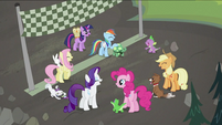 Main six and Spike laughing S2E07