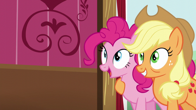 File:Pinkie and Applejack backs up S5E11.png