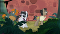 Caballeron and henchponies drawn by sound S6E13.png
